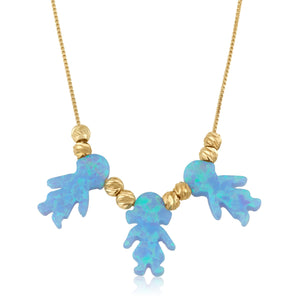 Opal Children Charms Necklace - Beleco Jewelry
