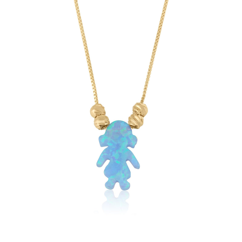 Opal Girl Necklace - Beleco Jewelry