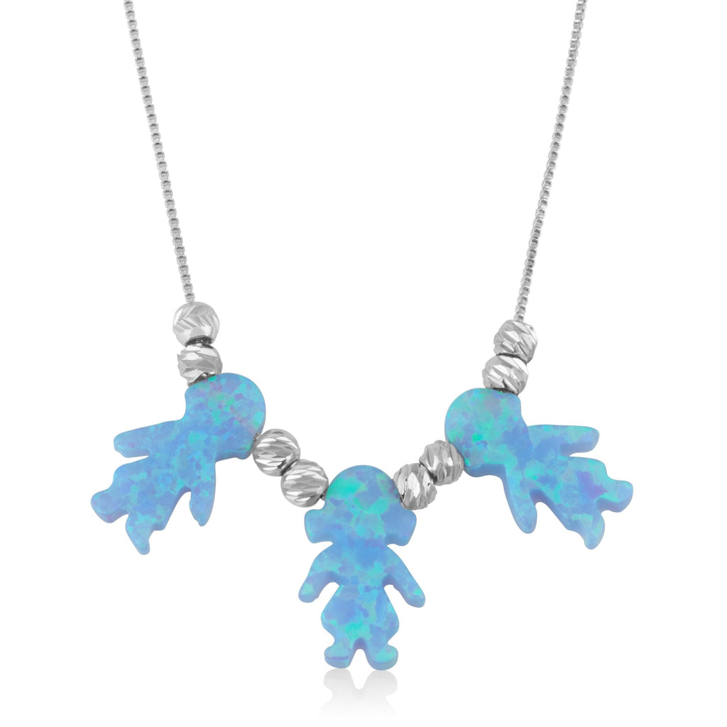 Opal Kids Charms Necklace - Beleco Jewelry
