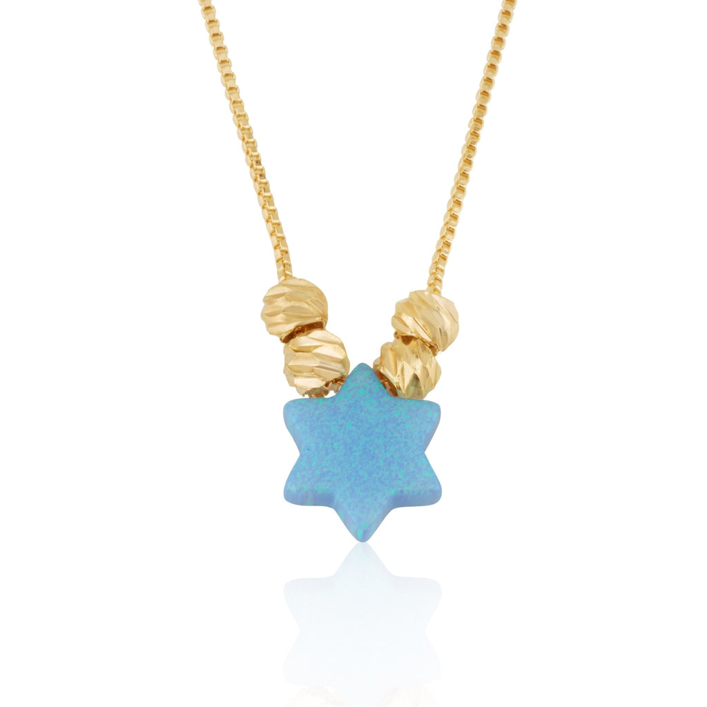 Opal Star Of David Necklace - Beleco Jewelry