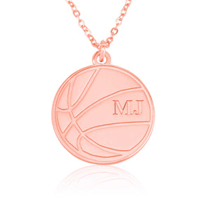 Personalized Basketball Name Necklace - Beleco Jewelry