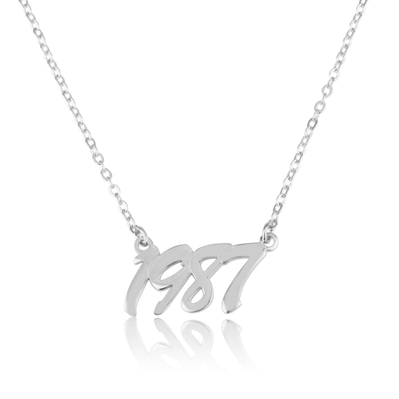 Personalized Birth Year Necklace - Beleco Jewelry