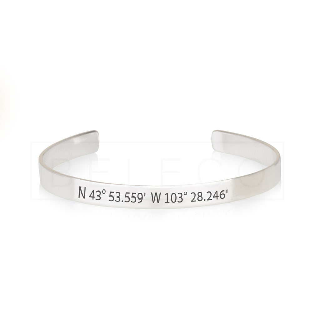 Personalized Coordinates Bracelet - Beleco Jewelry