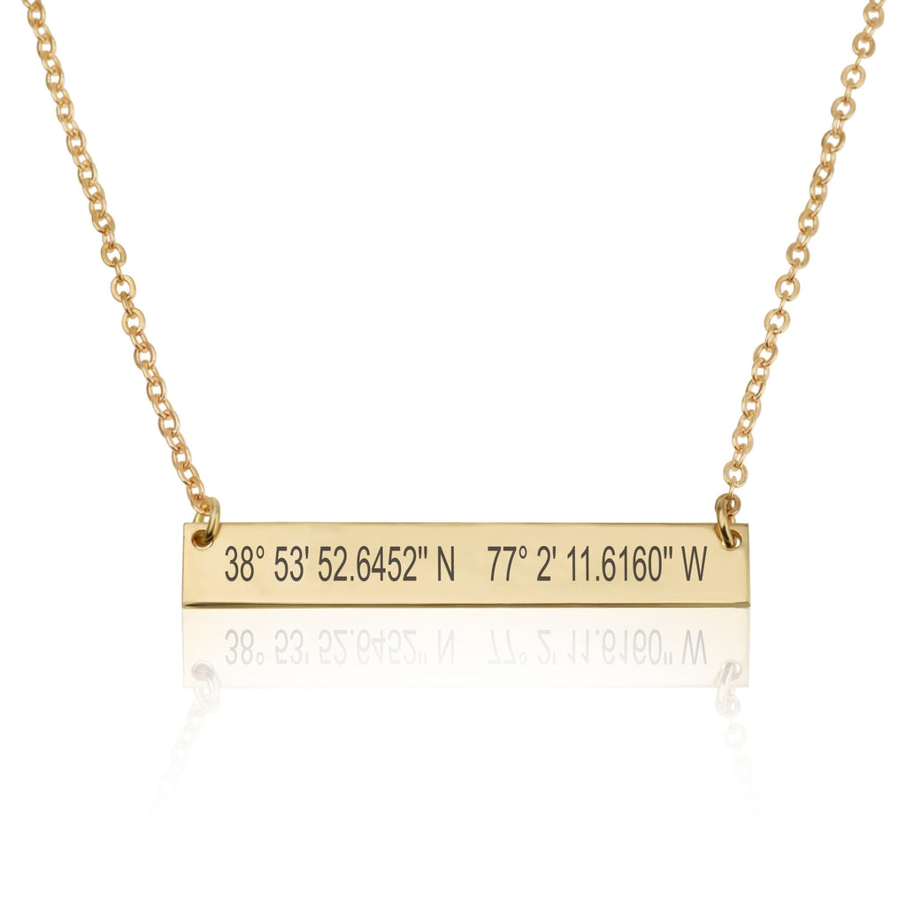 Personalized Coordinates Necklace - Beleco Jewelry