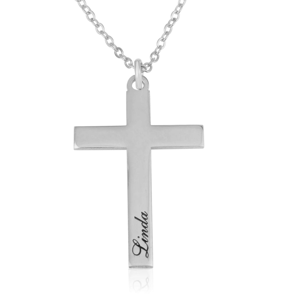 Personalized Cross Necklace - Beleco Jewelry