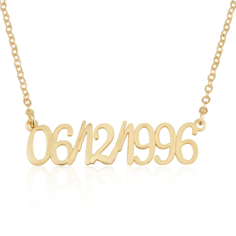 Personalized Date Necklace - Beleco Jewelry