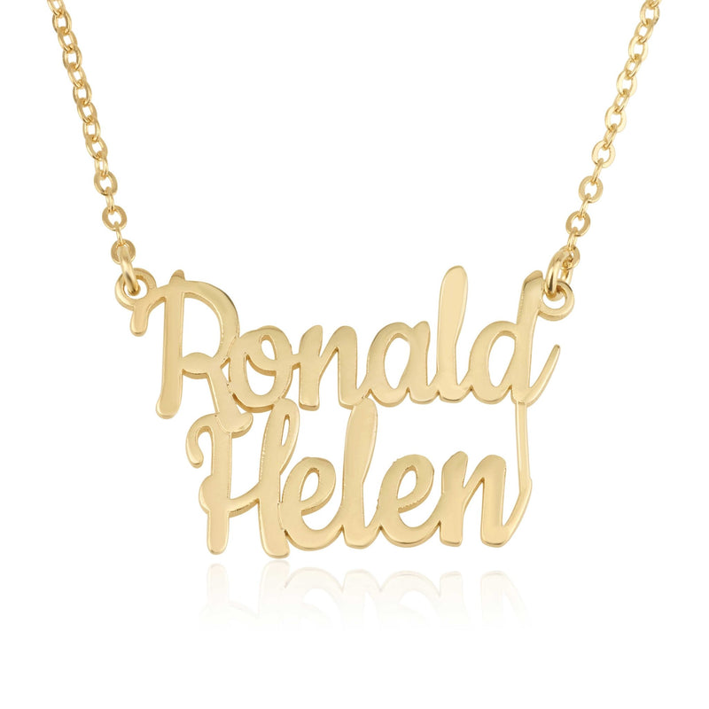 Personalized Double Name Necklace - Beleco Jewelry