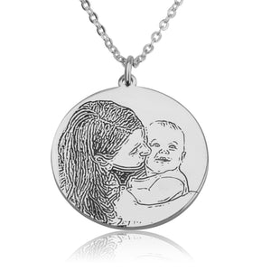 Personalized Photo Engraved Necklace - Beleco Jewelry
