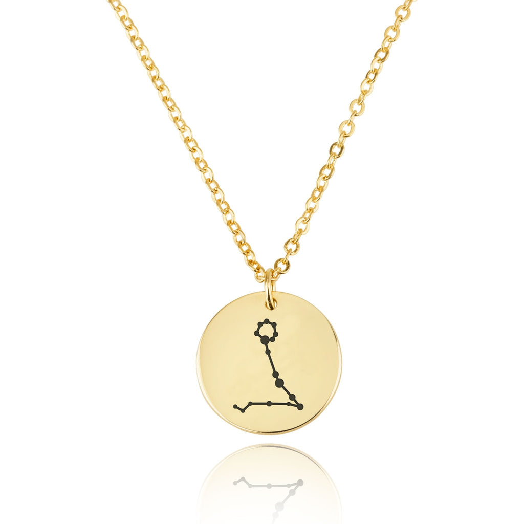 Pisces Celestial Constellation Disk Necklace - Beleco Jewelry