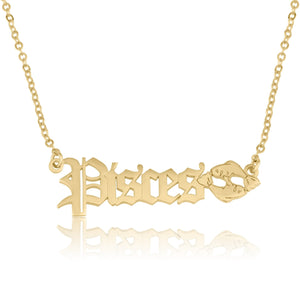 Pisces Symbol Necklace - Beleco Jewelry
