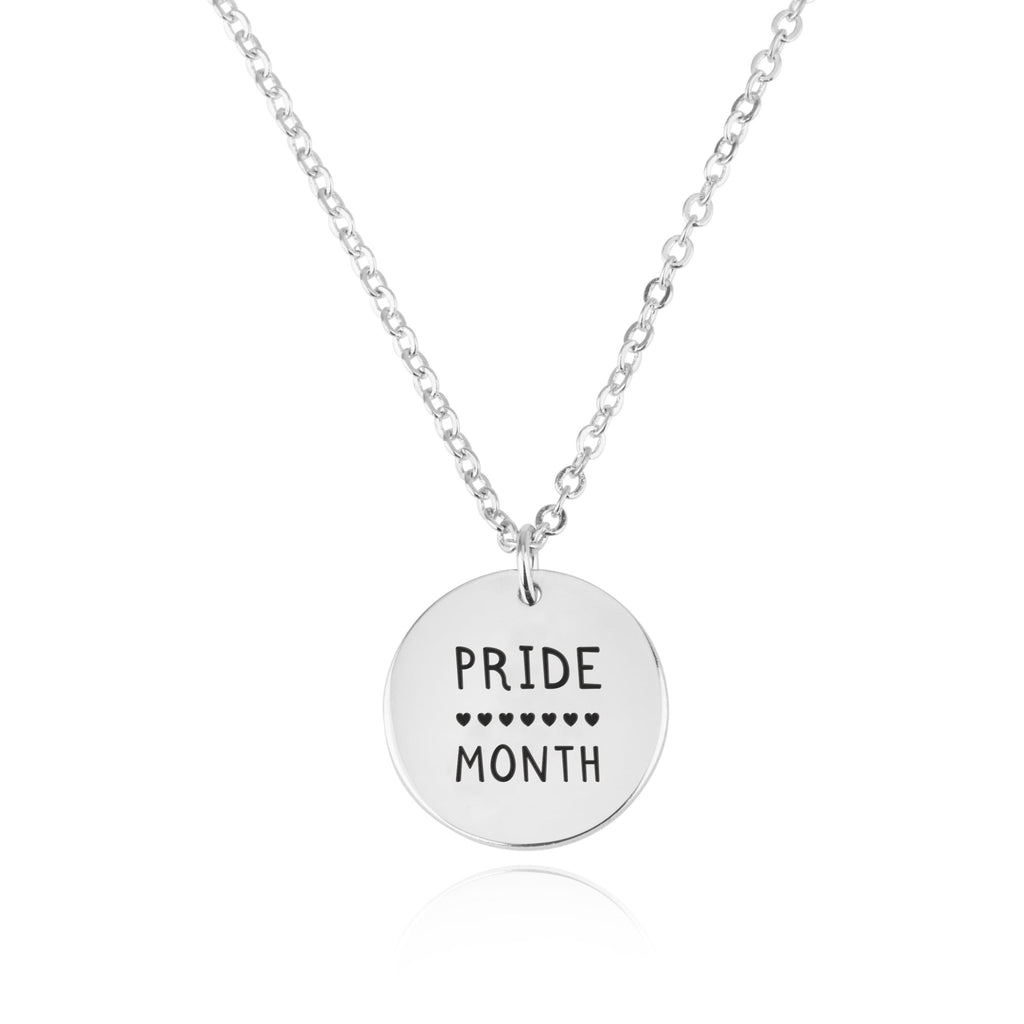 Pride Month Disk Necklace - Beleco Jewelry
