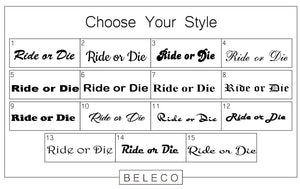 Ride Or Die Engraved Cuff Bracelet - Beleco Jewelry