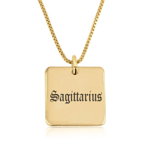 Sagittarius Charm Necklace - Beleco Jewelry