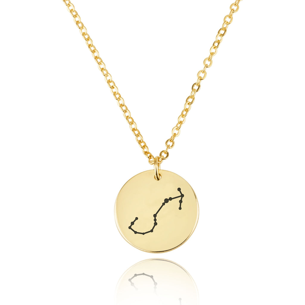 Scorpio Celestial Constellation Disk Necklace - Beleco Jewelry