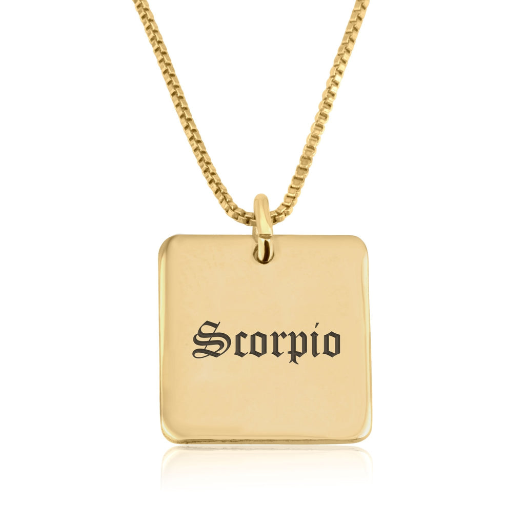 Scorpio Charm Necklace - Beleco Jewelry