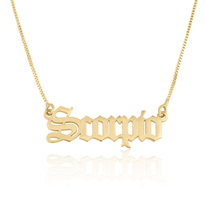 Scorpio Script Necklace - Beleco Jewelry