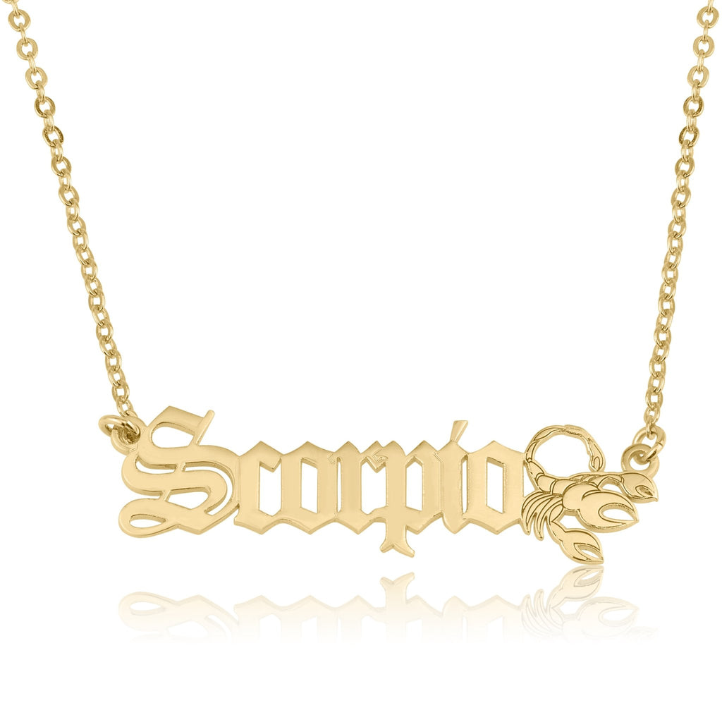 Scorpio Symbol Necklace - Beleco Jewelry
