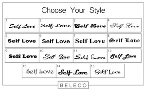 Self Love Engraved Cuff Bracelet - Beleco Jewelry