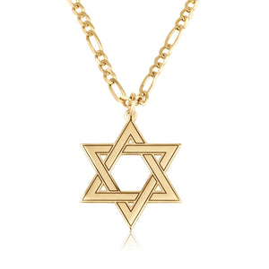 Star of David Necklace For Men - Beleco Jewelry