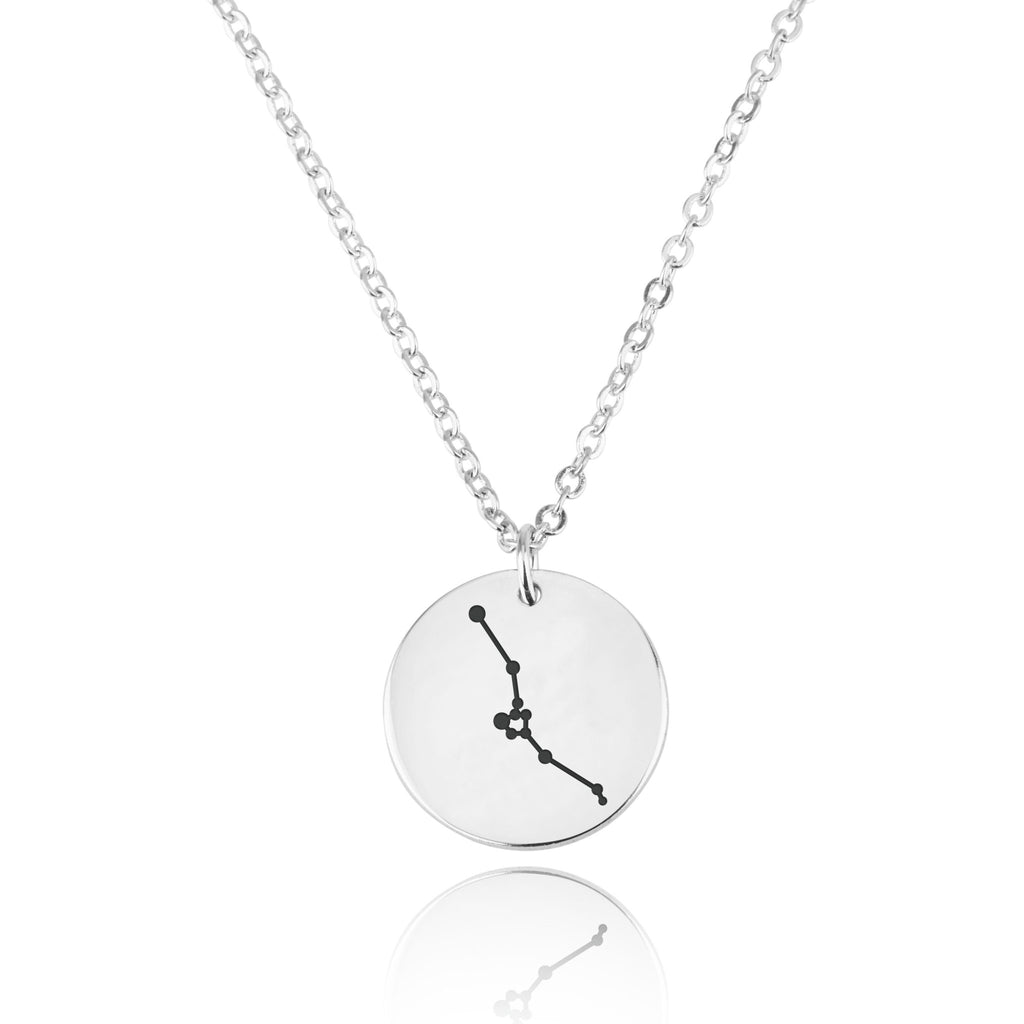 Taurus Celestial Constellation Disk Necklace - Beleco Jewelry