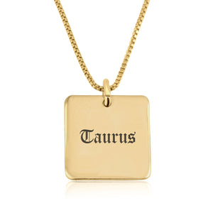 Taurus Charm Necklace - Beleco Jewelry