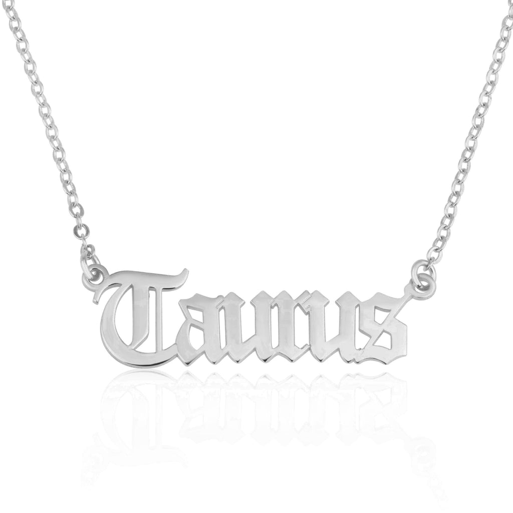 Taurus Script Necklace - Beleco Jewelry