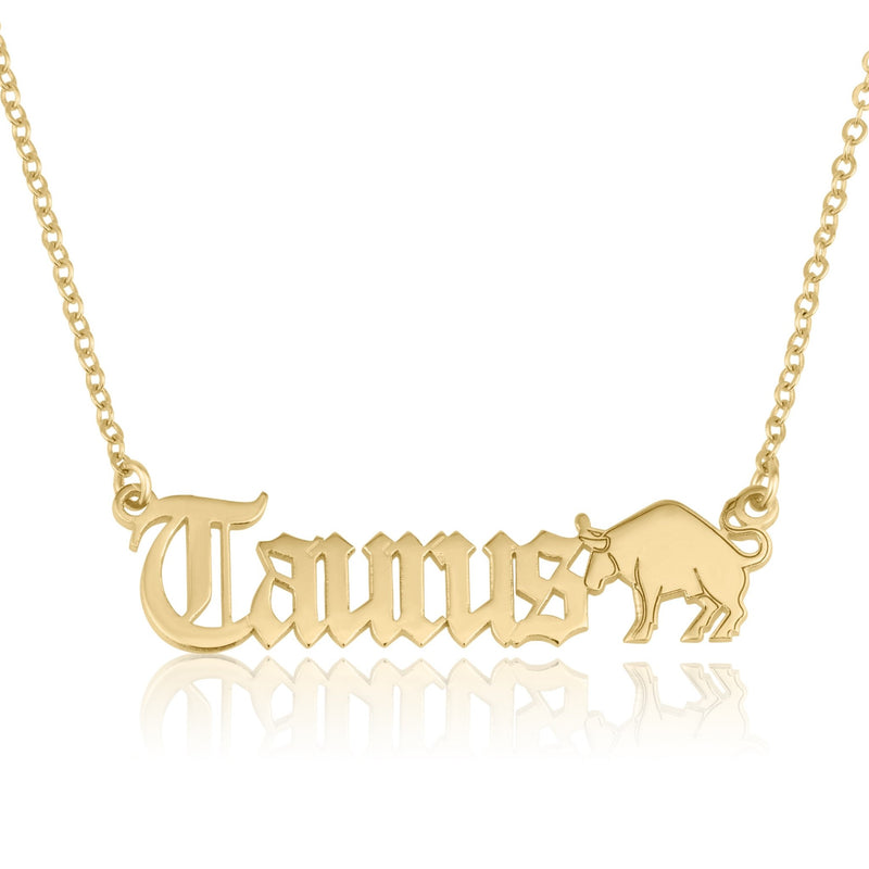 Taurus Symbol Necklace - Beleco Jewelry