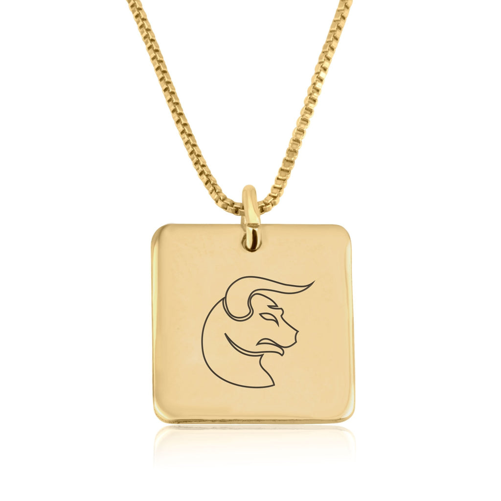 Taurus Zodiac Necklace - Beleco Jewelry
