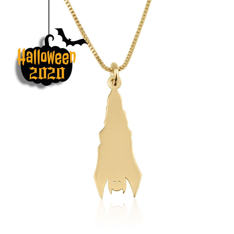 Upside Down Bat Necklace - Beleco Jewelry