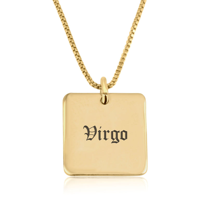 Virgo Charm Necklace - Beleco Jewelry
