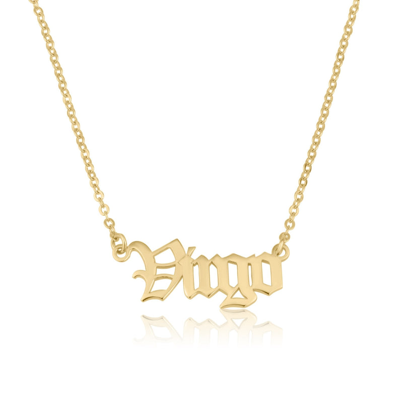 Virgo Script Necklace - Beleco Jewelry