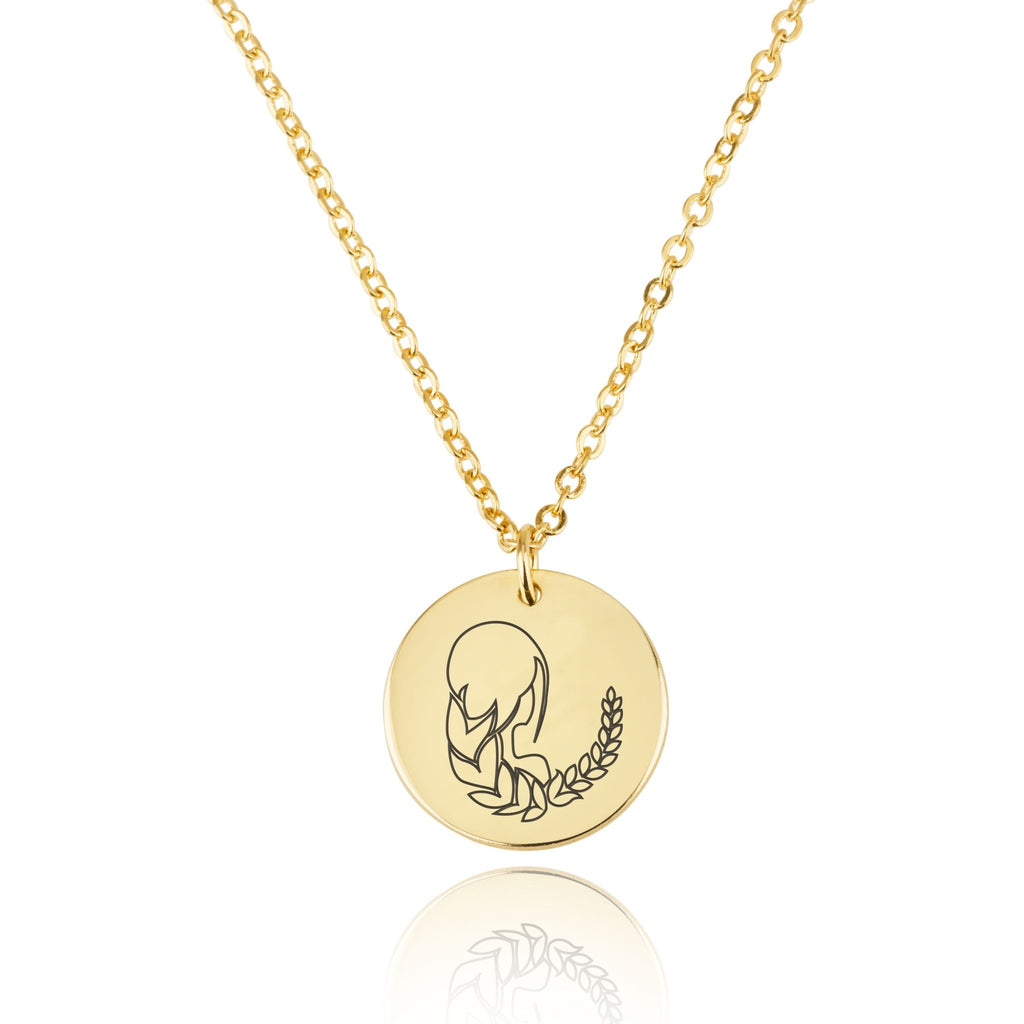 Virgo Zodiac Disk Necklace - Beleco Jewelry