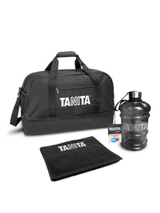 <strong>Tanita Gym Bag Bundle</strong><br><p>Including Gym towel and hydration 2L bottle</p>
