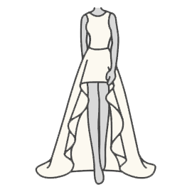 High / Low Wedding Dress Silhouette Guide