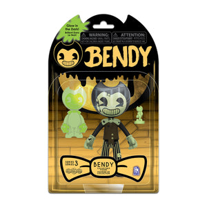 "BATDR6521 - Bendy And The Dark Revival Series 2 GitD 5"" Action Figures Cartoon Bendy - Click Distribution (UK) Ltd"