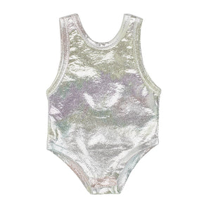 IAG0759 - I'm A Girly Silver Swimsuit Silver Swimsuit - Click Distribution (UK) Ltd