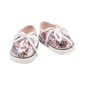 IAG0803 - I'm A Girly Rose Gold Glitter Sneakers Rose Gold Sneakers - Click Distribution (UK) Ltd