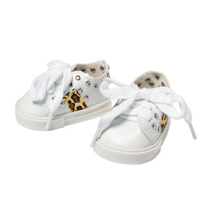 IAG1015 - I'm A Girly White Leopard Sneakers White Leopard Sneakers - Click Distribution (UK) Ltd