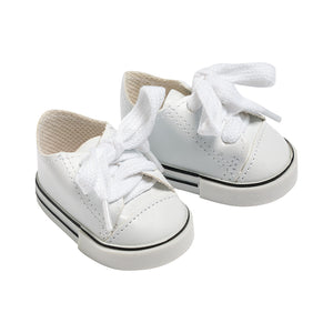 IAG1794 - I'm A Girly White Leather Sneakers White Leather Sneakers - Click Distribution (UK) Ltd