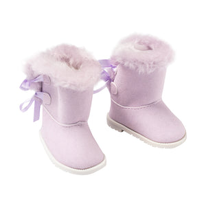 IAG1916 - I'm A Girly Purple Shearling Boots Purple Shearling Boots - Click Distribution (UK) Ltd
