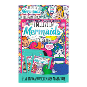 New Box of 60 packets i BELIEVE IN MERMAIDS STICKERS FULL stickers album