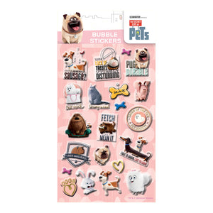 SEBBL - Secret Life Of Pets Bubble Stickers - Click Distribution (UK) Ltd