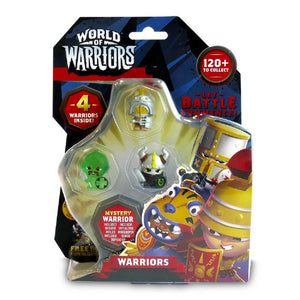 World Of Warriors 4 Pack Mini Figure Asst. - Click Distribution (UK) Ltd