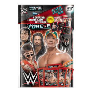 WWETNFSSP - WWE Then, Now, Forever Sticker Collection Starter Pack - Click Distribution (UK) Ltd