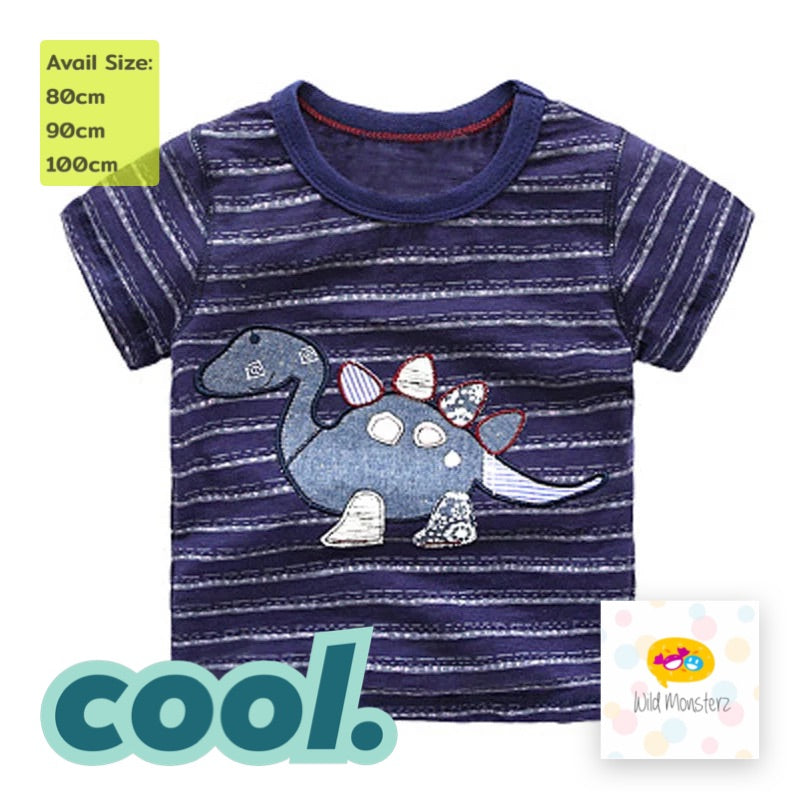 Dino Stripe Blue Tee