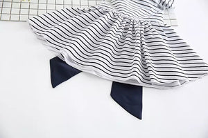 Fashion - Stripe Ribbon Dress