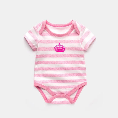 Single Queen Crown Pink Stripe Romper