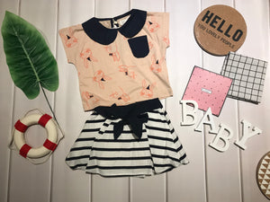 Fashion - Sailor Bunny Top with Stripe skirt