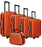 Ultra-Light Suitcase Trolley Travel Bag Luggage Set 5pc - ORANGE