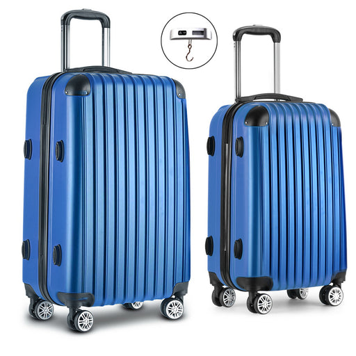 Wanderlite 2 Piece Super Lightweight Hard Suit Case - BLUE